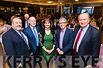 Speakers at the Kerry ETB award at the Rose Hotel, Tralee on Thursday, April 6th Owen O'Donnell (Director of Further Education) Christy Enright (Assistant Manager of Kerry ETB Training Centre) Nora O'Callaghan (Acting Area Manager, Kerry ETB Training Centre) with Billy Keane and Jim Finucane.