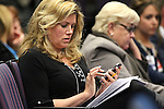 Nevada Sen. Patricia Farley, R-Las Vegas, works in committee at the Legislative Building in Carson City, Nev., on Wednesday, May 20, 2015. <br /> Photo by Cathleen Allison