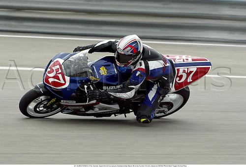 57. ILARIO DIONISI (ITA), Suzuki, Superstock European Championship Race, Ricardo Tormo Circuit, Valencia 030302 Photo:Neil Tingle/Action Plus...2003 .man men motorcycle motorcycles bike bikes......  ..