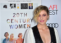 LOS ANGELES, CA. November 16, 2016: Actress Greta Gerwig at the gala screening for &quot;20th Century Women&quot;, part of the AFI FEST 2016, at the TCL Chinese Theatre, Hollywood.<br /> Picture: Paul Smith/Featureflash/SilverHub 0208 004 5359/ 07711 972644 Editors@silverhubmedia.com