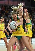 5th October 2017, Spark Arena, Auckland, New Zealand; Constellation Cup, New Zealand Silver Ferns versus Australia Diamonds;   Australia's Caitlin Bassett