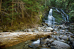 Idaho, North,Bonners Ferry, Kaniksu National Forest. Upper Snow Creek Falls in the Selkirk Range of the Kaniksu National Forest during low water flow.