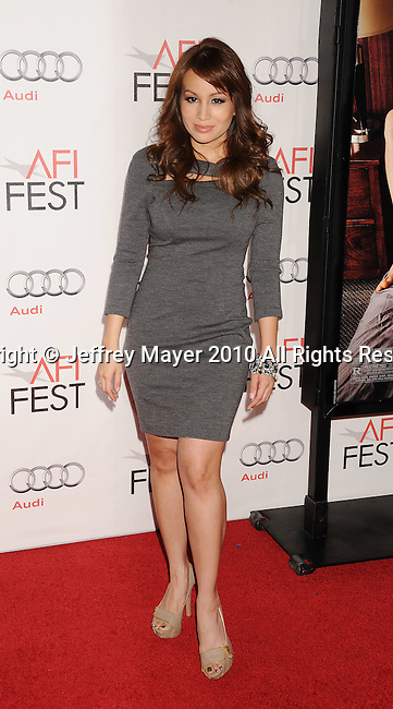 "HOLLYWOOD, CA. - November 04: Christina Fandino arrives at the AFI Fest 2010 Opening Night Gala screening of ""Love And Other Drugs"" at Grauman's Chinese Theatre on November 4, 2010 in Hollywood, California."