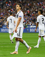 Frust bei Mats Hummels (Deutschland Germany) nach dem Schlusspfiff - 16.10.2018: Frankreich vs. Deutschland, 4. Spieltag UEFA Nations League, Stade de France, DISCLAIMER: DFB regulations prohibit any use of photographs as image sequences and/or quasi-video.