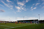 Darlington attack late in the game. Darlington 1883 v Southport, National League North, 16th February 2019. The reborn Darlington 1883 share a ground with the town's Rugby Union club. <br />