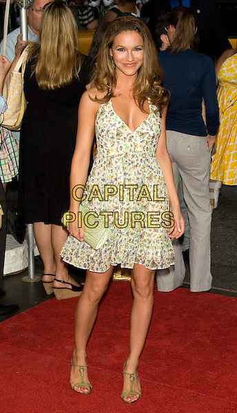 "CHRISHELL STAUSE (All My Children).World Premiere of ""The Sisterhood of the Traveling Pants 2"" at the Ziegfeld Theatre, New York, NY, USA..July 28th, 2008 .Travelling full length pattern dress green clutch bag cream brown t-bar sandals  .CAP/LNC/TOM.©TOM/LNC/Capital Pictures."
