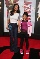 "29 March 2019 - Hollywood, California - Christina Milian, Violet Madison Nash. Warner Bros. Pictures And New Line Cinema's World Premiere Of ""SHAZAM!""  held at TCL Chinese Theatre IMAX. <br /> CAP/ADM/FS<br /> ©FS/ADM/Capital Pictures"