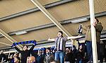 Uppsala 2015-02-28 Bandy Elitseriekval IK Sirius - Gripen Trollh&auml;ttan BK :  <br /> Sirius supportrar jublar efter efter matchen mellan IK Sirius och Gripen Trollh&auml;ttan BK <br /> (Foto: Kenta J&ouml;nsson) Nyckelord:  Bandy Elitserien Elitseriekval Kval Kvalserien Uppsala Studenternas IP IK Sirius IKS Gripen Trollh&auml;ttan supporter fans publik supporters jubel gl&auml;dje lycka glad happy