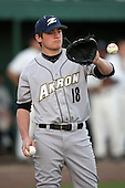 March 13, 2010:  Pitcher Kevin Kumazec of the Akron Zips vs. the Yale Bulldogs in a game at Henley Field in Lakeland, FL.  Photo By Mike Janes/Four Seam Images