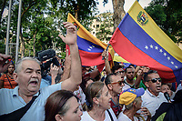 CUCUTA - COLOMBIA, 12-02-2019:  Venezolanos participan hoy, 12 de febrero de 2019, en Cúcuta en una marcha en apoyo al jefe del Parlamento y autoproclamado presidente encargado de Venezuela, Juan Guaidó y exigiendo la entrada de ayuda humanitria a su país. / Venezuelans participate today, February 2, 2019, in Caracas in a parade in support of the head of Parliament and self-proclaimed president in charge of Venezuela, Juan Guaidó and claim for  allow the entrance of the humanitarian aid to their country. Photo: VizzorImage / Mabnuel Hernandez / Cont