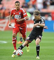 Washington D.C. - April 26, 2014:  Chris Rolfe (18) of D.C. United. D.C. United defeated the FC Dallas 4-1 during a Major League Soccer match for the 2014 season at RFK Stadium.
