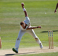 Ivan Thomas bowls for Kent during the County Championship Division 2 game between Kent and Leicestershire (Day 2) at the St Lawrence ground, Canterbury, on Mon July 23, 2018
