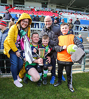 Saturday 13th April 2019 | Ballynahinch 4 vs Banbridge 3<br /> <br /> The Gillespie family after the Crawford Cup final between Ballynahinch and Banbridge at Kingspan Stadium, Ravenhill Park, Belfast, Northern Ireland.  Photo by John Dickson / DICKSONDIGITAL