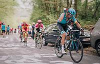 Tanel Kangert (EST/Astana) cooling down up the C&ocirc;te de la Roche aux Faucons<br /> <br /> 104th Li&egrave;ge - Bastogne - Li&egrave;ge 2018 (1.UWT)<br /> 1 Day Race: Li&egrave;ge - Ans (258km)