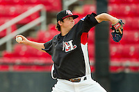 Starting pitcher Luke Jackson #31 of the Hickory Crawdads in action against the Lakewood BlueClaws at L.P. Frans Stadium on June 5, 2011 in Hickory, North Carolina.   Photo by Brian Westerholt / Four Seam Images