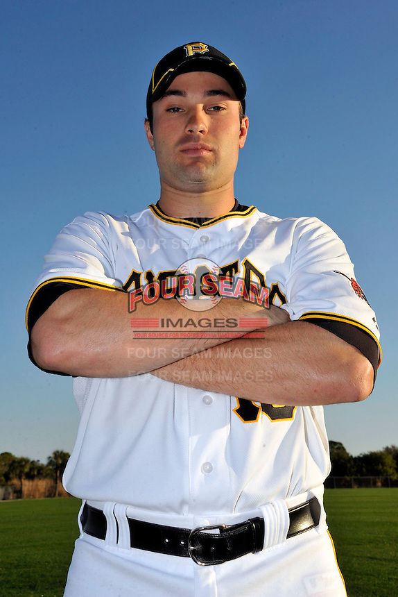 Feb 28, 2010; Bradenton, FL, USA; Pittsburgh Pirates  infielder Neil Walker (18) during  photoday at Pirate City. Mandatory Credit: Tomasso De Rosa/ Four Seam Images