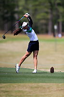 Atthaya Thitikul (THA) on the 2nd during the second round of the Augusta National Womans Amateur 2019, Champions Retreat, Augusta, Georgia, USA. 04/04/2019.<br /> Picture Fran Caffrey / Golffile.ie<br /> <br /> All photo usage must carry mandatory copyright credit (&copy; Golffile | Fran Caffrey)