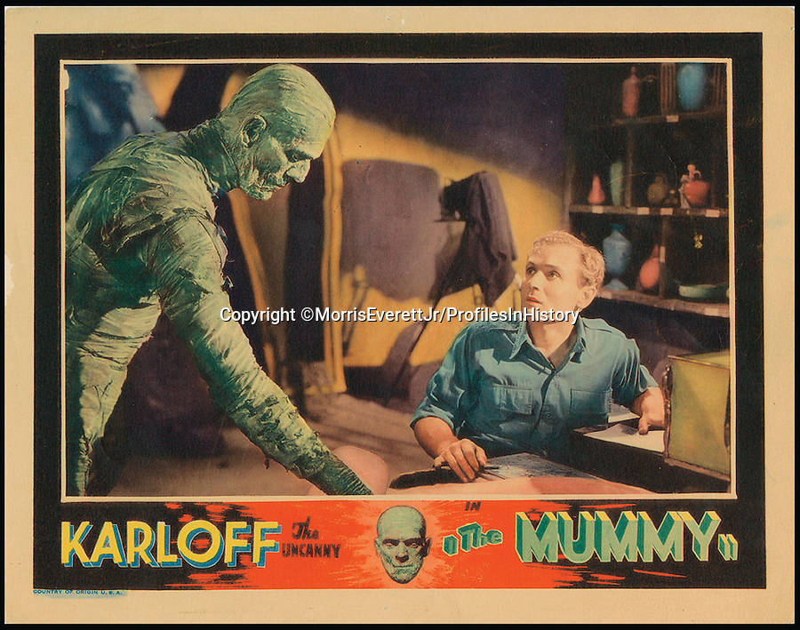 BNPS.co.uk (01202 558833)<br /> PIc: MorrisEverettJr/ProfilesInHistory/BNPS<br /> <br /> ***Please Use Full Byline***<br /> <br /> The Mummy (1932). <br /> <br /> The world's largest collection of movie posters boasting artwork from almost every single film made in the last century has emerged for sale for &pound;5 million.<br /> <br /> The colossal archive features 196,000 posters from more than 44,000 films, and has been singlehandedly pieced together by one avid collector over the last 50 years.<br /> <br /> Morris Everett Jr has dedicated his life's work to seeking out original posters from every English-speaking film ever made and compiling them into a comprehensive library.<br /> <br /> The sale is tipped to make $8 million - around &pound;5 million pounds - when it goes under the hammer in one lot at Califonia saleroom Profiles in History on December 17.