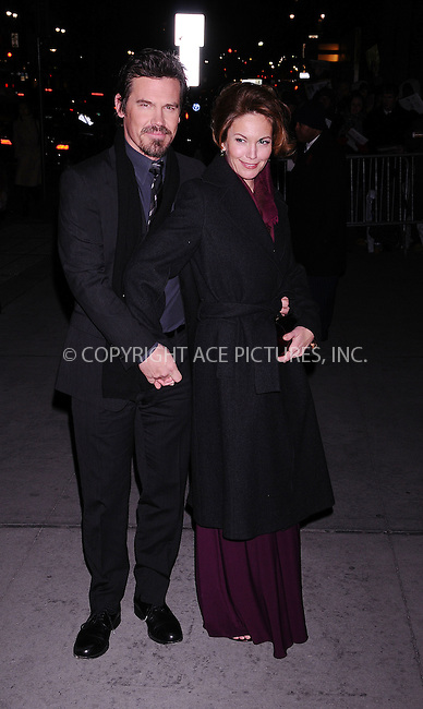 WWW.ACEPIXS.COM . . . . .  ....January 14 2009, New York City....Actors Josh Brolin and Diane Lane arriving at the 2008 National Board of Review awards gala at Cipriani on January 14, 2009 in New York City.....Please byline: AJ Sokalner - ACEPIXS.COM..... *** ***..Ace Pictures, Inc:  ..tel: (212) 243 8787..e-mail: info@acepixs.com..web: http://www.acepixs.com