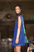LONDON, ENGLAND - London Fashion Week, S/S 2011 collection by designer Romina Karamanea, Vauxhall Fashion Scout