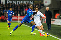 Tom Carroll of Swansea City in action during the Premier League match between Swansea City and Leicester City at The Liberty Stadium, Swansea, Wales, UK. Sunday 12 February 2017
