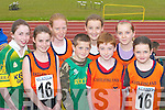 ATHLETES: Athletes from Castleisland at the Community Games County Finals at An Riocht Track, Castleisland, last Saturday. L-r: Niamh OConnell, Eilis Lynch, Elaine Doody, Aidan Donoghue, Shauna Connor, Shane Lynch, Aine OConnor and Isabelle Doody. .