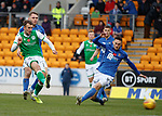 09.11.2019 St Johnstone v Hibs: Christian Doidge shoots and rebounds back to him to open the scoring for Hibs