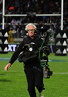Sky steadicam operator Rhys Duncan in action during the Rugby Championship match between the NZ All Blacks and Argentina Pumas at Yarrow Stadium in New Plymouth, New Zealand on Saturday, 9 September 2017. Photo: Dave Lintott / lintottphoto.co.nz