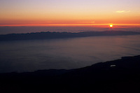Sunrise over Terceira and Sao Jorge from the top of Pico, Açores, 2005.