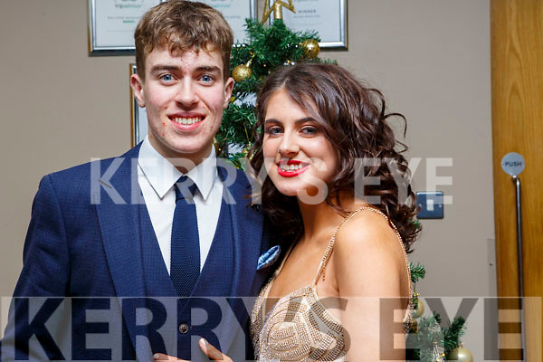 Darragh O'Brien and Caoimhe Hassett of Killorglin attending the CBS Debs in the Ballyroe Hotel on Friday last.