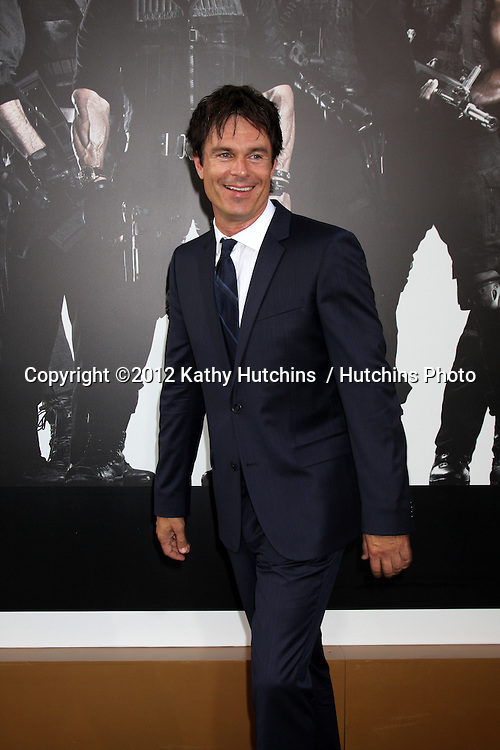 """Los Angeles - AUG 15:  Patrick Muldoon arrives at the """"The Expendables 2""""  Premiere at Graumans Chinese Theater on August 15, 2012 in Los Angeles, CA"""
