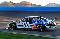 Nov. 7, 2008; Avondale, AZ, USA; NASCAR Sprint Cup Series driver Regan Smith during qualifying for the Checker Auto Parts 500 at Phoenix International Raceway. Mandatory Credit: Mark J. Rebilas-