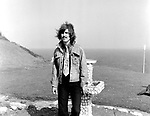 Beatles 1967 George Harrison during filming of the Magical Mystery Tour at the Atlantic Hotel in Newquay.<br /> &copy; Chris Walter