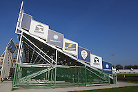 The Derwent Valley Construction stand ahead of Derbyshire CCC vs Essex CCC, Specsavers County Championship Division 2 Cricket at the 3aaa County Cricket Ground on 15th August 2016