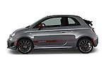 Driver side profile view of a 2014 Fiat 500c Abarth Cabrio 2 Door Convertible
