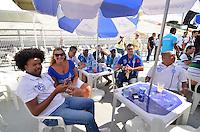 SAO PAULO, SP, 12 FEVEREIRO 2013 - CARNAVAL SP - APURAÇÃO -  Presidentes e diretores das escolas de Samba do Grupo Especial durante apuração dos votos no Sambódromo do Anhembi na região norte da capital paulista, nesta terça, 12. FOTO: LEVI BIANCO - BRAZIL PHOTO PRESS