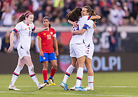 , FL - : Christen Press #23 and Tobin Heath #17 of the United States celebrates during a game between  at  on ,  in , Florida.