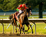 JULY 18, 2020 : Horologist with Joe Bravo aboard, wins the Grade 3 Molly Pitcherl Stakes, for fillies & mares, going 1 1/16 mile, at Monmouth Park, Elmont, NY.  Charles Toler/Eclipse Sportswire/CSM