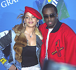 P.Diddy/Sean Combs with Faith Evans at 2001 Billboard Awards at MGM Grand in Las Vegas 4th December 2001.© Chris Walter.