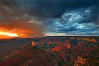 749220326 sunrise storms and heavy cloud cover over mount hayden at point imperial north rim of the grand canyon in arizona united states