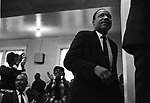 Martin Luther King Jr speaking at a rural church in Alabama while touring to promote the planned Poor People's Campaign to Washington. (Photo by Jim Peppler).