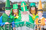 Launching the Killorglin St Patrick's day parade in Killorglin on Saturday was l-r: Cahir Conway, Patrana Lyons, Mike Cahillane, Grainnes Eccles and Eoin Foyle......