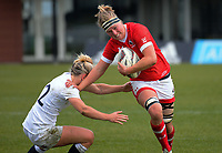 Tyson Beukeboom in action during the 2017 International Women's Rugby Series rugby match between England Roses and Canada at Rugby Park in Christchurch, New Zealand on Tuesday, 13 June 2017. Photo: Dave Lintott / lintottphoto.co.nz