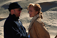 The English Patient (1996) <br /> Behind the scenes photo of Anthony Minghella &amp; Kristin Scott Thomas<br /> *Filmstill - Editorial Use Only*<br /> CAP/MFS<br /> Image supplied by Capital Pictures