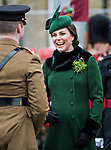 17.03.2018,Hounslow; UK: KATE MIDDLETON &amp; PRINCE WILLIAM<br /> attend the 1st Battalion Irish Guards&rsquo; St. Patrick's Day Parade at Cavalry Barracks, Hounslow <br /> Mandatory Credit Photo: MoD/NEWSPIX INTERNATIONAL<br /> <br /> IMMEDIATE CONFIRMATION OF USAGE REQUIRED:<br /> Newspix International, 31 Chinnery Hill, Bishop's Stortford, ENGLAND CM23 3PS<br /> Tel:+441279 324672  ; Fax: +441279656877<br /> Mobile:  07775681153<br /> e-mail: info@newspixinternational.co.uk<br /> *All fees payable to Newspix International*