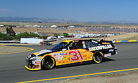 Jun. 21, 2009; Sonoma, CA, USA; NASCAR Sprint Cup Series driver Jeff Burton during the SaveMart 350 at Infineon Raceway. Mandatory Credit: Mark J. Rebilas-