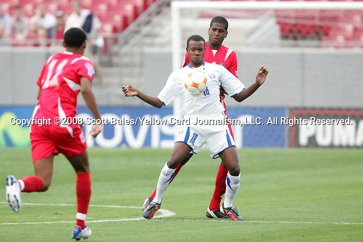 11 March 2008: Jose Cesar Guity (HON) (18) controls the ball. The Honduras U-23 Men's National Team defeated the Panama U-23 Men's National Team 1-0 at Raymond James Stadium in Tampa, FL in a Group A game during the 2008 CONCACAF's Men's Olympic Qualifying Tournament.