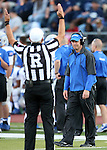 Air Force Head Coach Troy Calhoun reacts to his team scoring during the first half of an NCAA football game against Nevada, in Reno, Nev., on Saturday, Sept. 28, 2013. <br /> Photo by Cathleen Allison