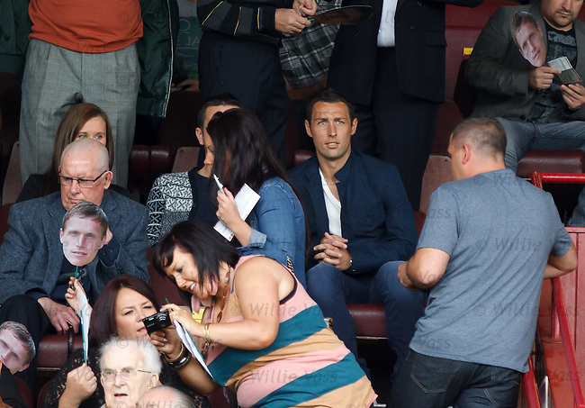 Ex-Motherwell and Celtic striker Scott McDonald watching from the stands