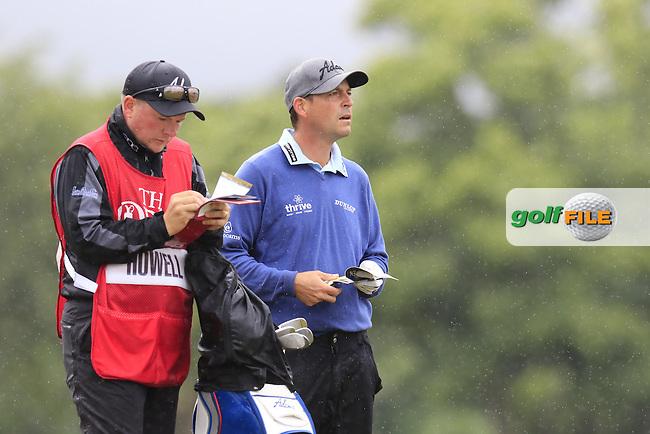 David HOWELL (ENG) and caddy Steve in the rough on the 4th hole during Sunday's Round  of the 144th Open Championship, St Andrews Old Course, St Andrews, Fife, Scotland. 19/07/2015.<br /> Picture Eoin Clarke, www.golffile.ie